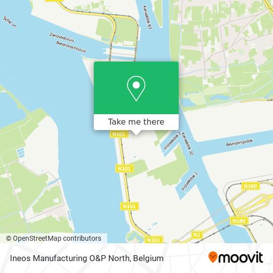 Mapa Ineos Manufacturing O&P North