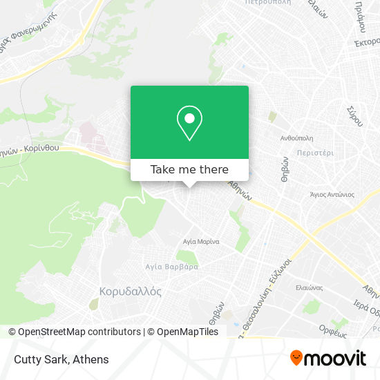 Cutty Sark map