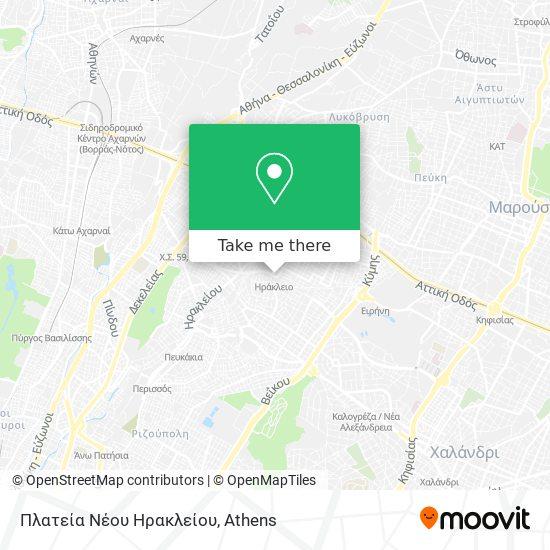 Πλατεία Νέου Ηρακλείου map