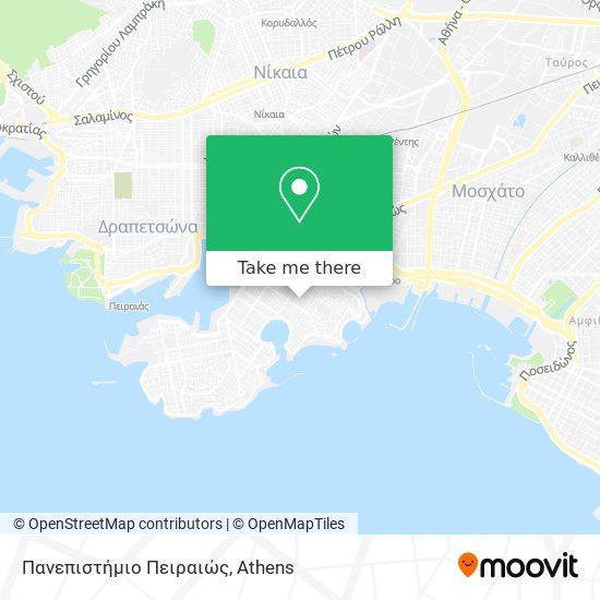 Πανεπιστήμιο Πειραιώς map