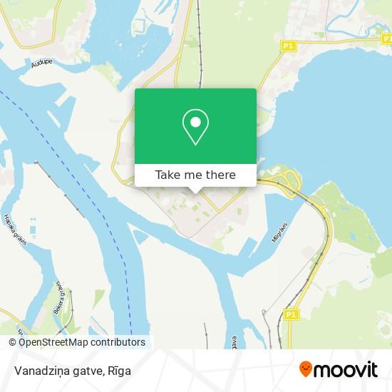 Vanadziņa gatve map