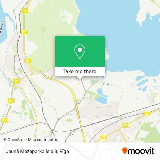 Jaunā Mežaparka iela 8 map