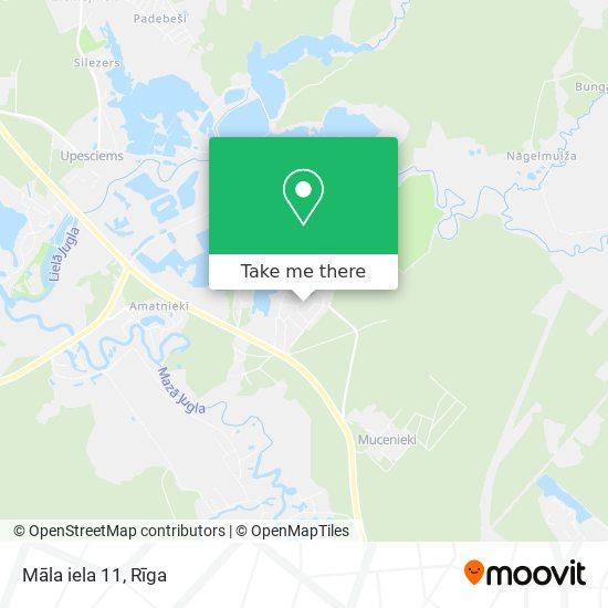 Māla iela 11 map
