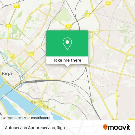 Autoserviss Aprioreserviss map
