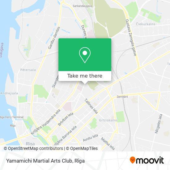 Yamamichi Martial Arts Club map