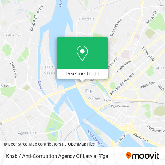 Knab / Anti-Corruption Agency Of Latvia map