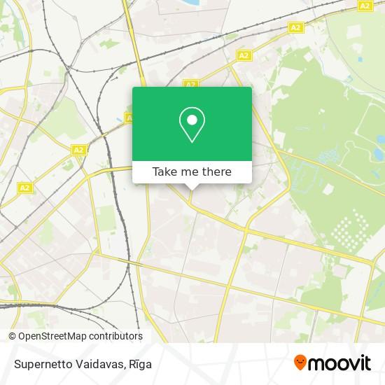 Supernetto Vaidavas map
