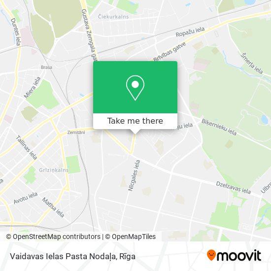 Vaidavas Ielas Pasta Nodaļa map