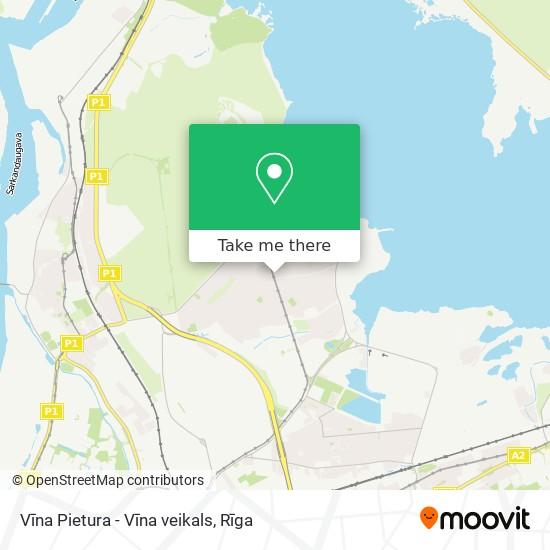 Vīna Pietura - Vīna veikals map