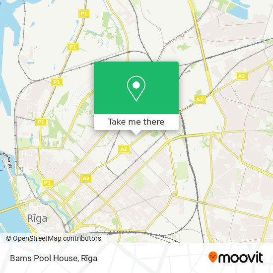 Bams Pool House map