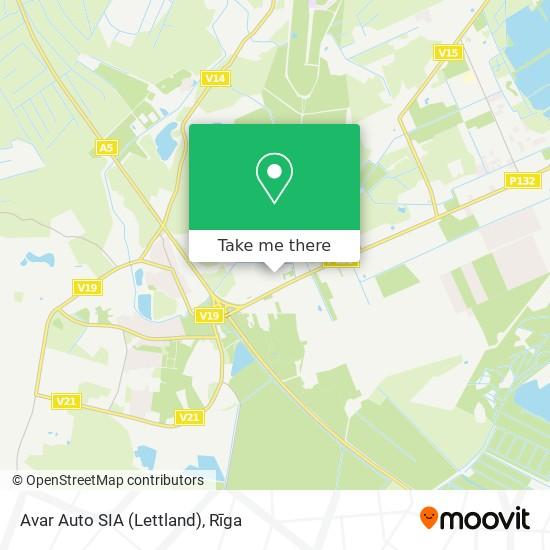 Avar Auto SIA (Lettland) map