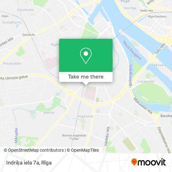 Indriķa iela 7a map