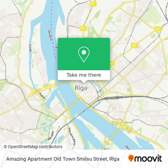 Amazing Apartment Old Town Smilsu Street map