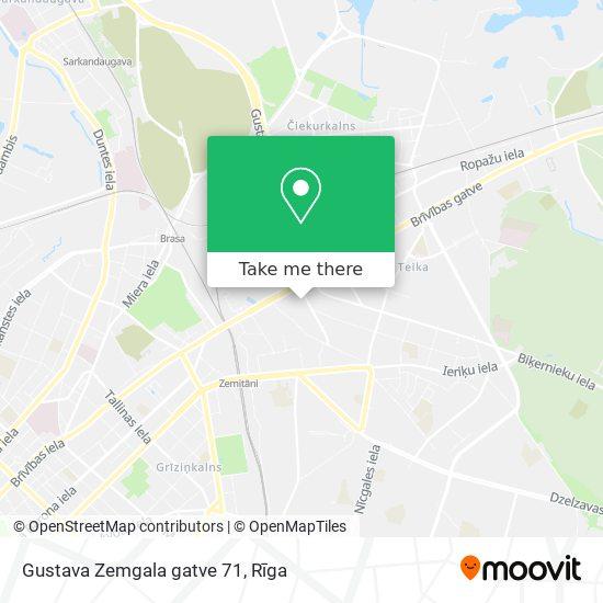 Gustava Zemgala gatve 71 map