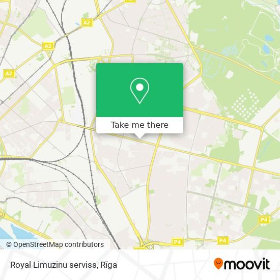 Royal Limuzinu serviss map