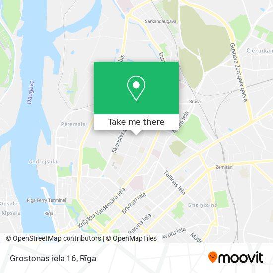 Grostonas iela 16 map