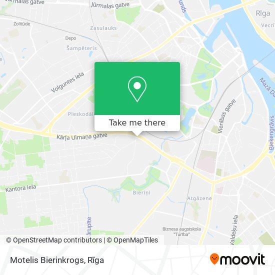 Motelis Bierinkrogs map