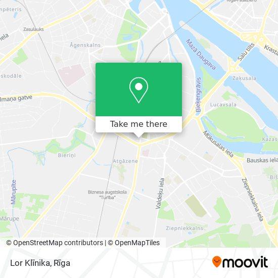 Lor Klīnika map