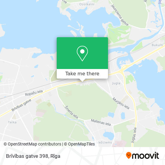 Brīvības gatve 398 map