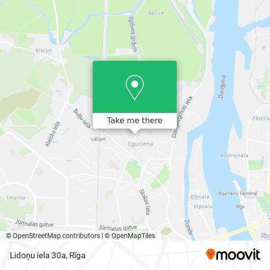 Lidoņu iela 30a map