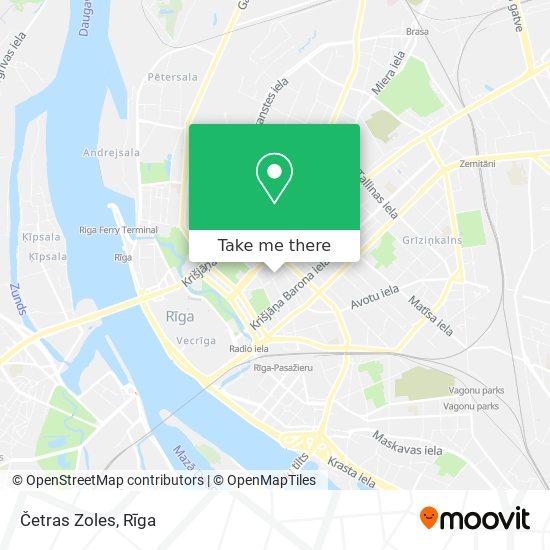 Četras Zoles map