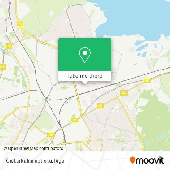 Čiekurkalna aptieka map