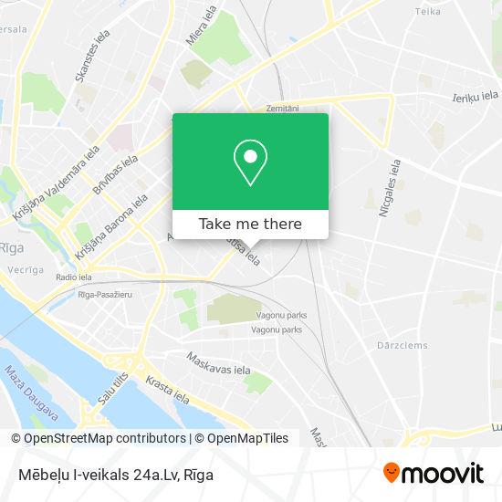 Mēbeļu I-veikals 24a.Lv map