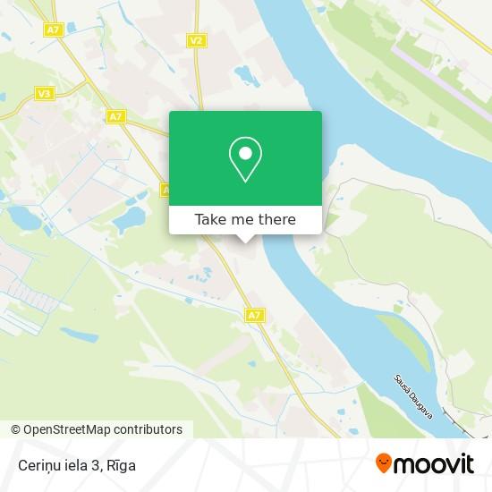 Ceriņu iela 3 map