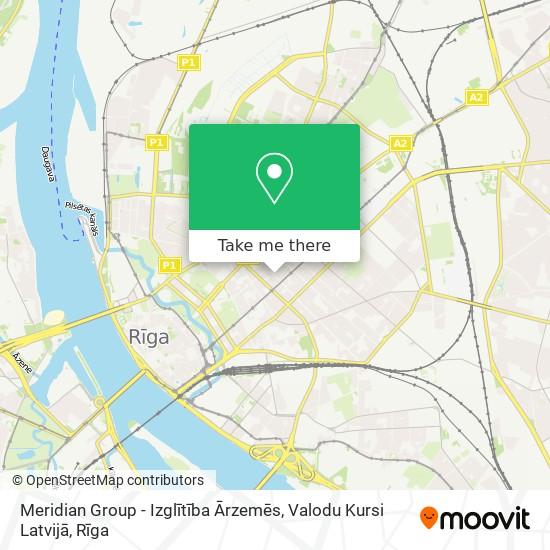 Meridian Group - Izglītība Ārzemēs, Valodu Kursi Latvijā map