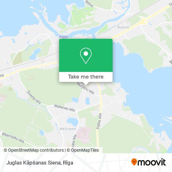 Juglas Kāpšanas Siena map