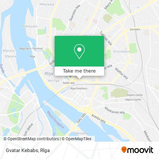 Gvatar Kebabs map