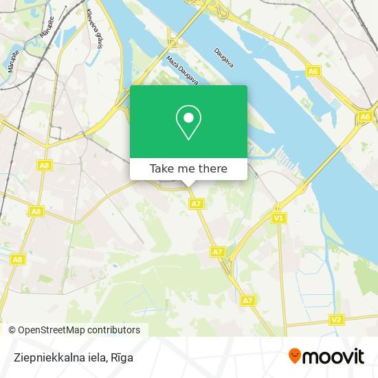 Ziepniekkalna iela map