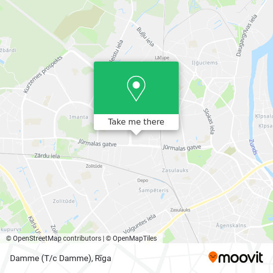 Damme (T/c Damme) map