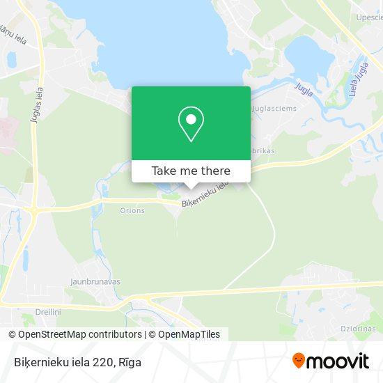 Biķernieku iela 220 map