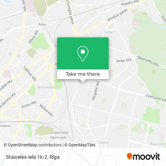 Staiceles iela 1k-2 map