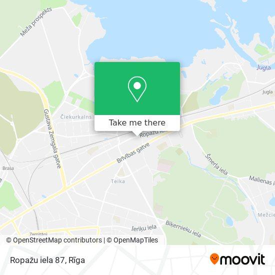 Ropažu iela 87 map