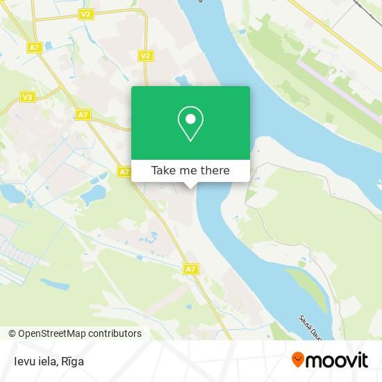 Ievu iela map
