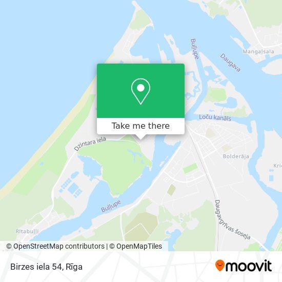Birzes iela 54 map