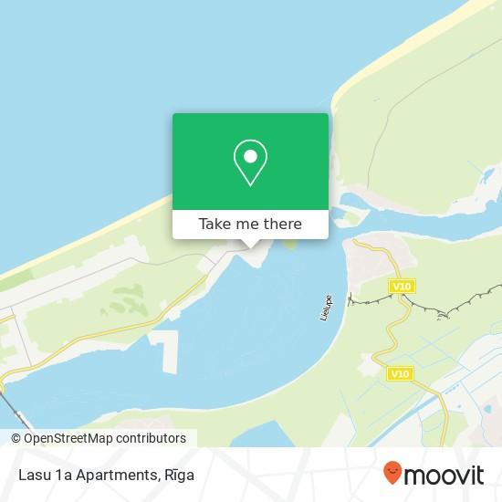 Lasu 1a Apartments map