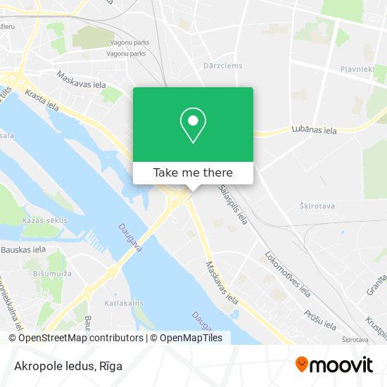 Akropole ledus map