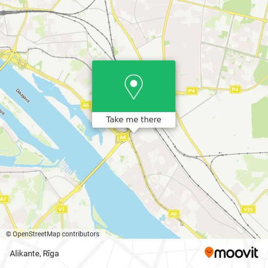 Alikante map
