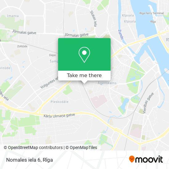 Nomales iela 6 map