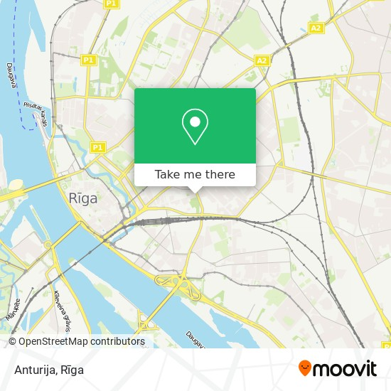 Anturija map