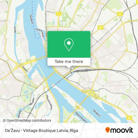 De'Žavu - Vintage Boutique Latvia map