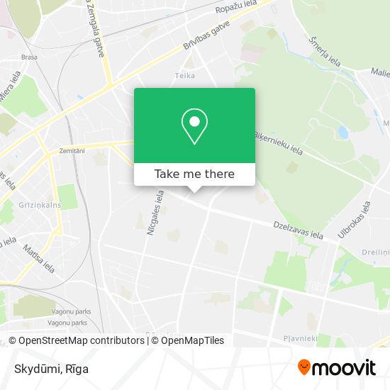 Skydūmi map