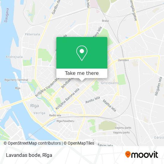Lavandas bode map