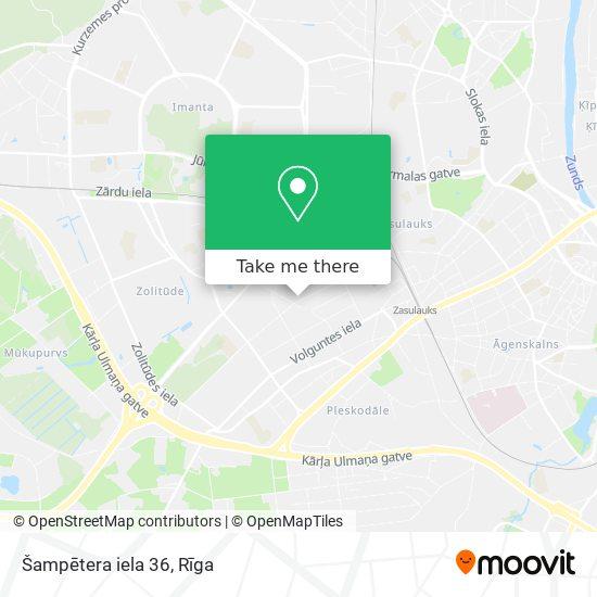 Šampētera iela 36 map