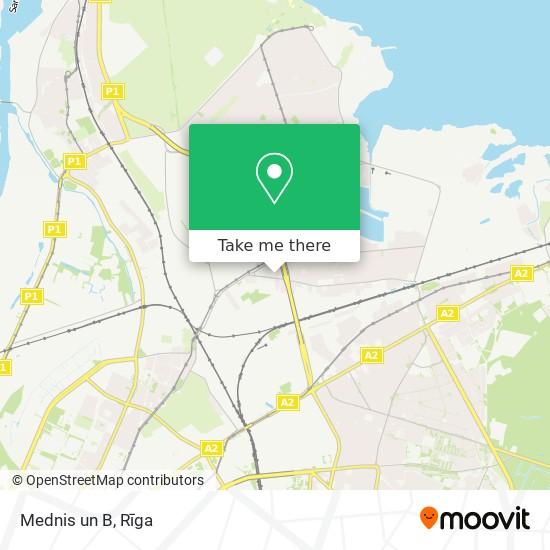 Mednis un B map