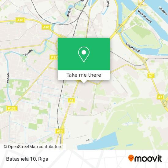 Bātas iela 10 map