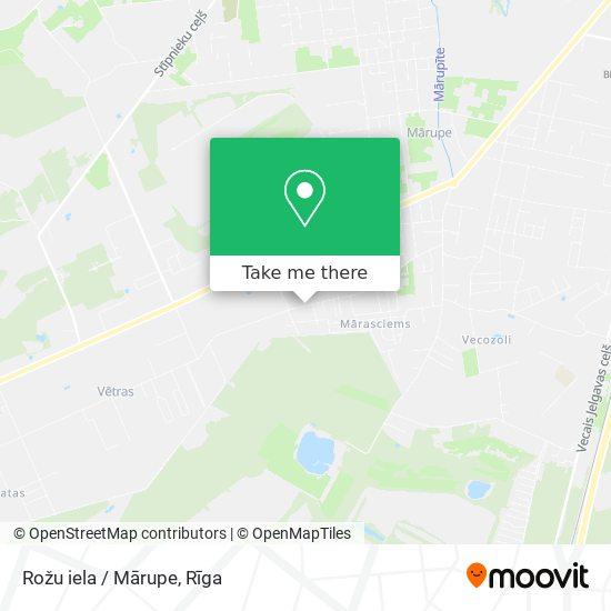 Rožu iela / Mārupe map